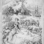 Illustrazione di Francis Donkin Bedford che raffigura Peter Pan mentre suona il flauto