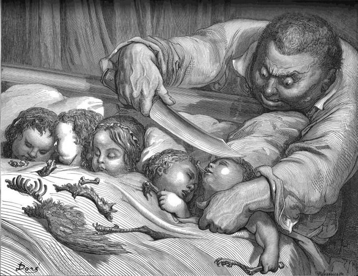Puccettino o Pollicino, illustrazione di Dorè.